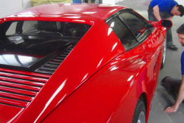 Ferrari 512 rot lackiert